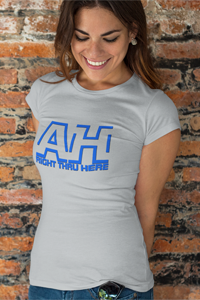 AH Right Thru Here RB Logo Ladies' Anvil T-shirt DO WORK! Collection by Hager & Barrick