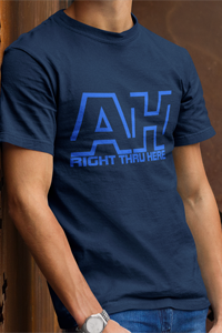 AH Right Thru Here RB Logo Men's Anvil T-shirt DO WORK! Collection by Hager & Barrick