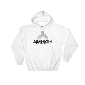 AIM HIGH Black Logo Gildan Hoodie - SWEASY STREET COLLECTION - FREE SHIPPING