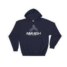 AIM HIGH White Logo Gildan Hoodie - SWEASY STREET COLLECTION - FREE SHIPPING