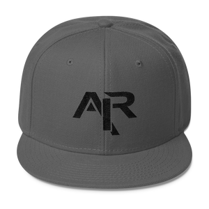 AIR BLACK LOGO Snapback Wool Blend Baseball Hat - FREE SHIPPING