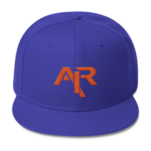 AIR ORANGE LOGO Snapback Wool Blend Baseball Hat - FREE SHIPPING