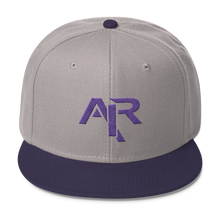 AIR PURPLE LOGO Snapback Wool Blend Baseball Hat - FREE SHIPPING