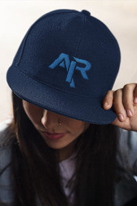 AIR ROYAL BLUE LOGO Snapback Wool Blend Baseball Hat - FREE SHIPPING