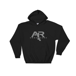 AIR Soberdose Grey Logo Gildan Hoodie - FREE SHIPPING ON THIS ITEM