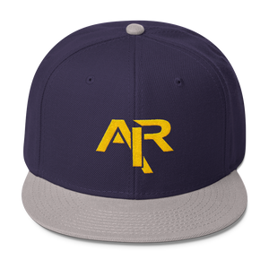 AIR YELLOW LOGO Snapback Wool Blend Baseball Hat - FREE SHIPPING