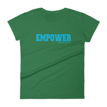 Empower Blue Logo Ladies' Anvil T-shirt @AlainaAshley Collection
