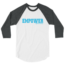 Empower Blue Logo Ladies' Tultex 3/4 Sleeve Raglan Shirt @AlainaAshley Collection