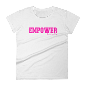 Empower Pink Logo Ladies' Anvil T-shirt @AlainaAshley Collection