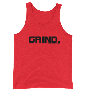 GRIND 1 Black Logo Men's Bella + Canvas Tank - Sweasy Street Collection