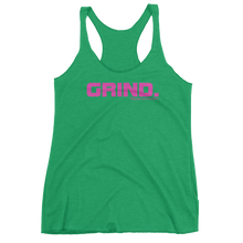 GRIND 1 Pink Logo Ladies' Next Level Tank - Sweasy Street Collection