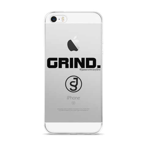 GRIND Black Logo iPhone Case @JamesSweasyLive Collection
