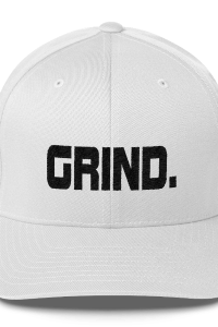 GRIND 1 Black Logo FlexFit Baseball Hat - SWEASY STREET COLLECTION - FREE SHIPPING