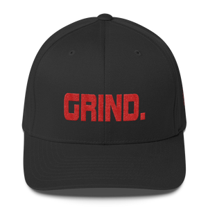 GRIND 1 Red Logo FlexFit Baseball Hat - SWEASY STREET COLLECTION - FREE SHIPPING