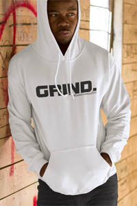 GRIND 1 Black Logo Gildan Hoodie - SWEASY STREET COLLECTION - FREE SHIPPING