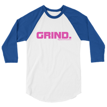 GRIND 1 Pink Logo Tultex 3/4 Sleeve Raglan Shirt - SWEASY STREET COLLECTION - FREE SHIPPING