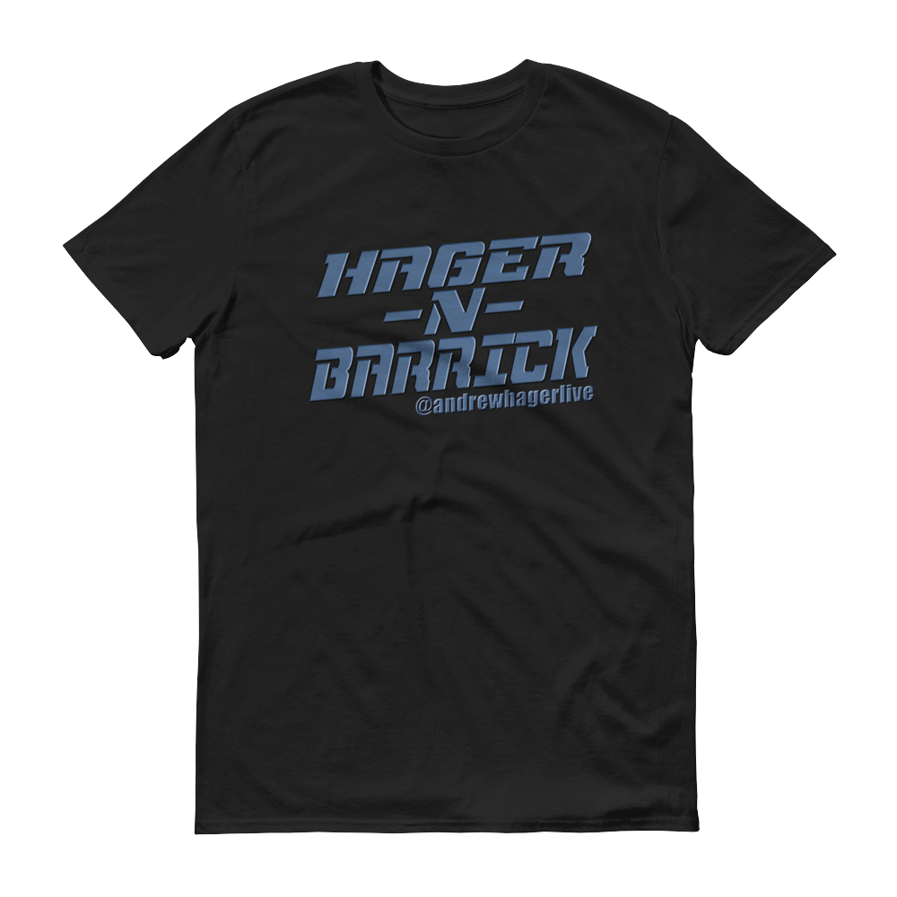 Hager & Barrick Blue Logo Men's Anvil T-shirt DO WORK! Collection by Hager & Barrick