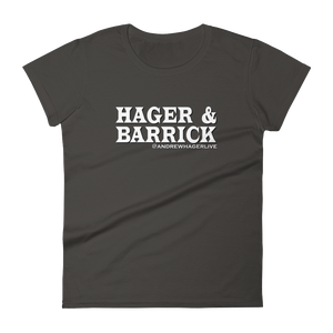 Hager & Barrick White Logo Ladies' Anvil T-shirt DO WORK! Collection by Hager & Barrick