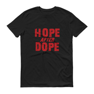 Hope after Dope Red Logo Men's Anvil T-shirt - FREE SHIPPING ON THIS ITEM
