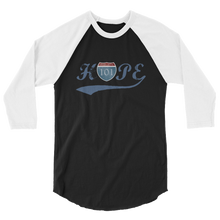 HOPE Sobriety 101 Blue Logo Tultex 3/4 Sleeve Raglan Shirt - Sobriety 101 Collection