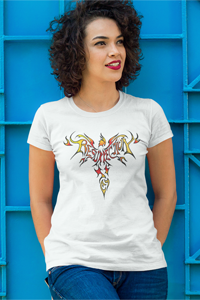 Phoenix of Resurrection Ladies' Anvil T-shirt