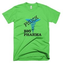 Phuck Big Pharma Black w/Blue Symbol Men's American Apparel T-shirt
