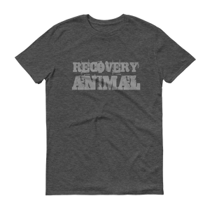 Recovery Animal Grey Logo Men's Anvil T-shirt