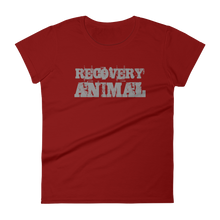 Recovery Animal Grey Logo Ladies' Anvil T-shirt