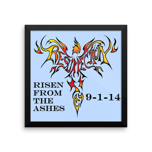"Phoenix of Ressurection Personalized Plaque - Framed 10""x10"""
