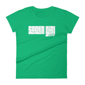 Sober Girl White Logo Ladies' Anvil T-shirt SPIF Collection