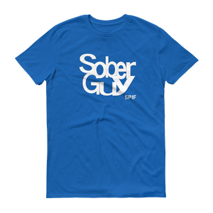 Sober Guy White Logo Men's Anvil T-shirt SPIF Collection