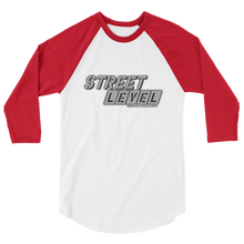 STREET LEVEL 2 Grey Logo Tultex 3/4 Sleeve Raglan Shirt - SWEASY STREET COLLECTION - FREE SHIPPING
