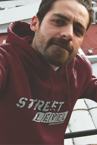 STREET LEVEL 2 Grey Logo Gildan Hoodie - SWEASY STREET COLLECTION - FREE SHIPPING