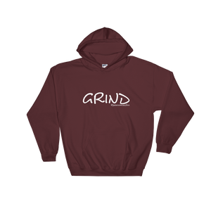GRIND 2 White Logo Gildan Hoodie - SWEASY STREET COLLECTION - FREE SHIPPING