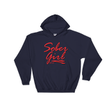 Sober Girl Red Logo Ladie's Gildan Hoodie - SPIF Collection