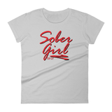 Sober Girl Red Logo Ladies' Anvil T-shirt - SPIF Collection