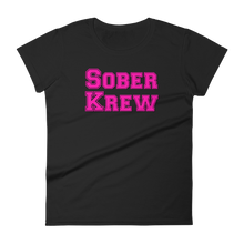 Sober Krew Pink Ladies' Anvil T-shirt Nate Provost Sober Krew Collection
