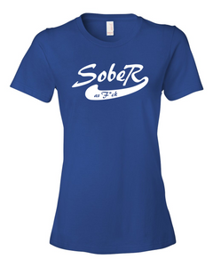 SoberAF White Logo Ladies' Anvil T-shirt