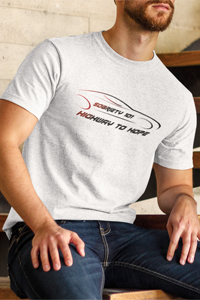 Sobriety 101 Highway to Hope Men's Anvil T-shirt - Sobriety 101 Collection