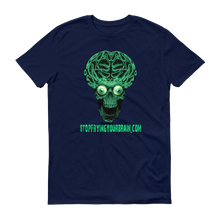 THE BRAIN Green Logo Men's Anvil T-shirt - Stop Frying Your Brain Collection