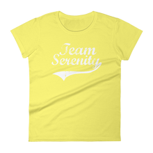 Team Serenity White Logo Ladies' Anvil T-shirt - FREE SHIPPING