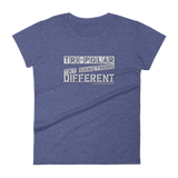 Tri-Polar Grey Logo Ladies' Anvil T-shirt DO WORK! Collection by Hager & Barrick