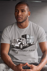 Unloaded Comedy - Laugh Yourself Clean Bella + Canvas Unisex T-shirt w/ Free Shipping