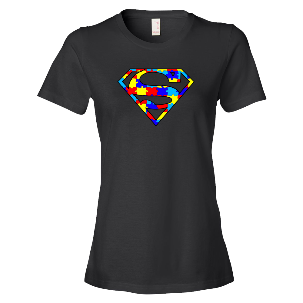Autism Superman Ladies' Anvil T-shirt