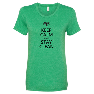 Keep Calm Stay Clean Ladies' Anvil T-shirt