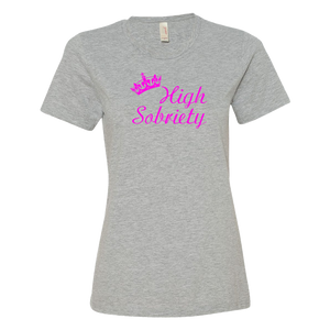 High Sobriety Ladies' Anvil T-shirt