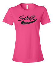 SoberAF Black Logo Ladies' Anvil T-shirt