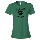Sober Ninja Ladies' Anvil T-shirt