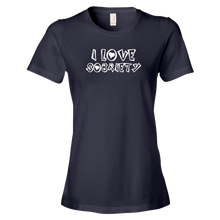 I Love Sobriety White Ladies' Anvil T-shirt