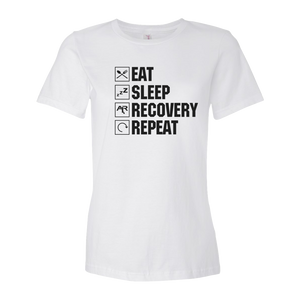 Eat Sleep Recovery Repeat Ladies' Anvil T-shirt
